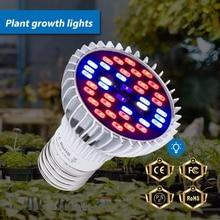 LED Grow Lights E27 Full Spectrum Bulb 220V 5730 SMD Plants Seeds Flower 30W 50W 80W UV Lamp Indoor Tent 110V Phyto