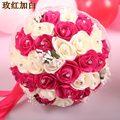 2017 Cheap New Wedding Bouquet Bridal Bridesmaid White/Pink/Red/Purple Artificial Flower Rose Bride Bouquets buque de noiva