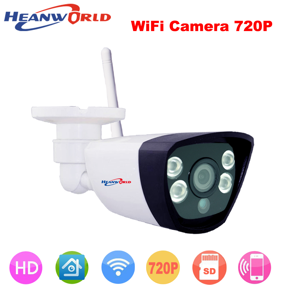WIfi IP camera support micro SD card network wired wireless IP cam webcam outdoor waterproof for day&night home use ABS plastic 2016 newest waterproof wireless h 264 720p ip camera wifi network onvif outdoor support 128gb sd card home camera epacket free