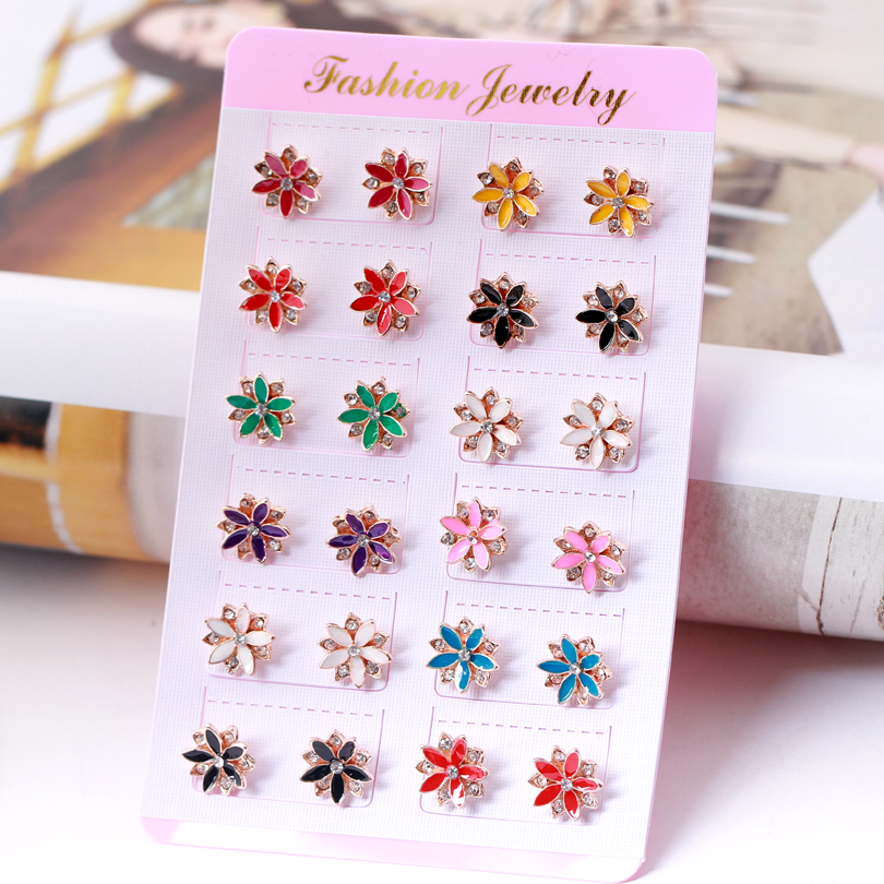 Beauty Street Collection! Colorful Enamel Stud Earrings