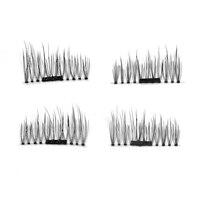 4 pcs/set 3D Natural Magnetic False Eyelashes Handmade Thick Long Cosmetic Full Strip Eye Lashes Extension Tools False Eyelashes