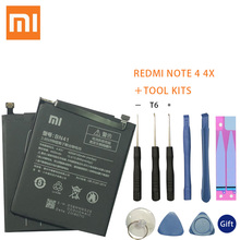 Xiao Mi BN41 Battery For Xiaomi Redmi Hongmi Note 4 / 4X MTK Helio X20 4000mAh Original Mobile Phone Batteries+Tools