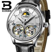 새로운 기계 남자 시계 Binger 역할 럭셔리 브랜드 해골 손목 사파이어 방수 시계 남자 시계 남자 남자 시계 B-8606M-2