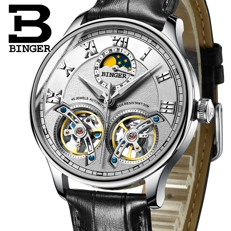 NEW Mechanical Men Watches Binger Role Luxury Brand Skeleton Wrist Sapphire Waterproof Watch Men Clock Male Men Watch B-8606M-2 men mechanical watches men s watch best luxury brand 2017 new burei male steel band hour sapphire waterproof wristwatch hot sale