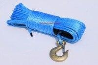 Azul 6mm * 30m atv corda sintética do guincho  plasma corda  cabo do guincho de kevlar  durável uhmwpe corda para atv utv veículo carro motocicleta