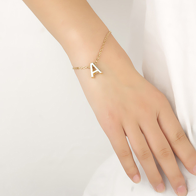 Fashion English Letters Women Bracelets Trendy Jewelry For Ladies Summer Accesso