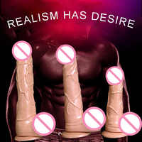 Godes réalistes Simulation de Vibration pénis adulte produits érotiques de sexe gode Masturbation vibrateur jouets sexuels pour godes de femme