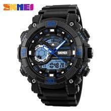 Skmei 1228 hombres deporte al aire libre relojes digitales led dual display reloj impermeable relojes militares relogio masculino