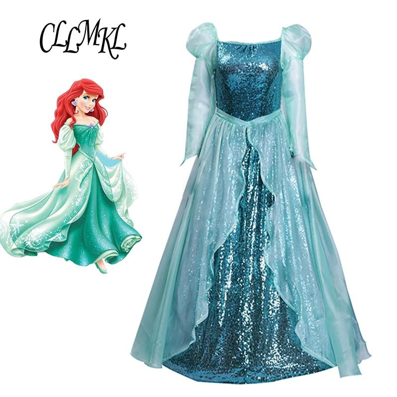 La petite sirène Ariel adulte robe princesse Ariel vert Costume robe pour adulte Cosplay Costume
