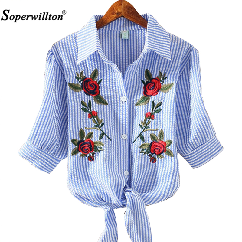 T Shirt Women 2017 New Embroidery Tshirt Female Floral T Shirt Woman Summer Bow Casual Cotton