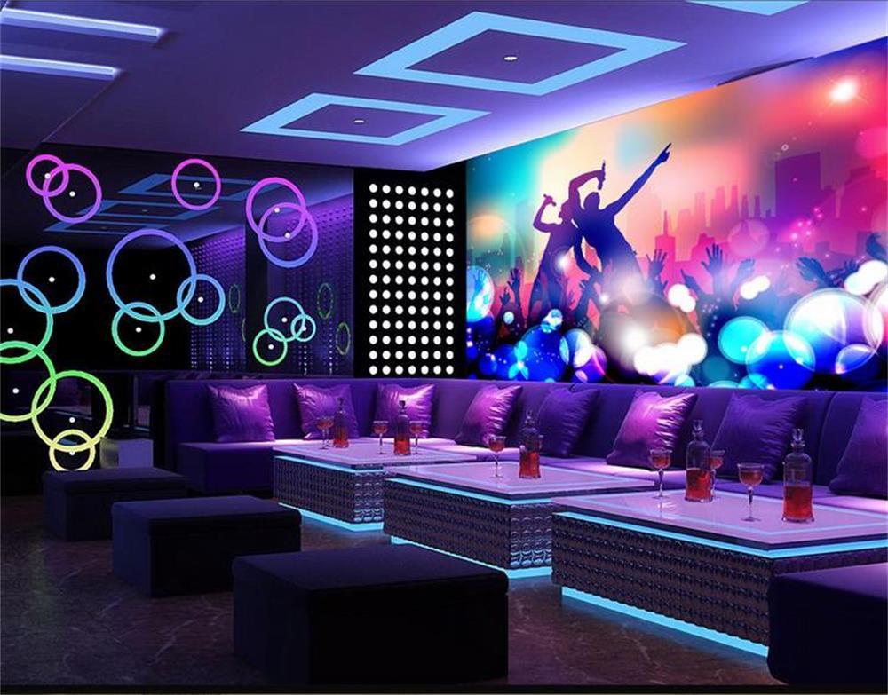 3d papel de parede personalizado mural não tecido / movimento da música legal carnaval / TV ...