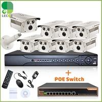 16CH 1080P 2 SATA NVR 8 POE 1080P Cameras 8ch PoE Switch CCTV Security POE KIT POE NVR System