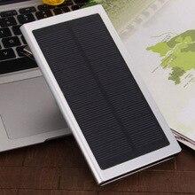 2016 Ultra Delgado de Lujo Real 12000 mah Banco Externo de Energía Solar Dual USB Portátil Cargador de Batería para el iphone HTC Xiaomi