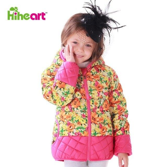 Hiheart 2015 малыш мода вниз пальто милые дети зима вниз куртки девушка капюшоном теплый пуховик куртка детская короткий пуховик одежда одежда