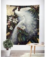 Peacock tapestry for bedroom living room background cloth tablecloth hanigng wall decoration Throw Rug Blanket