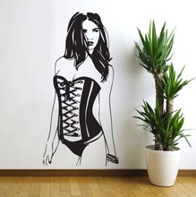 Cool Woman Wall Stickers Sexy Murals Vinyl Pin Up Girl Decal Home Decoration Beautiful Wallpaper W-994