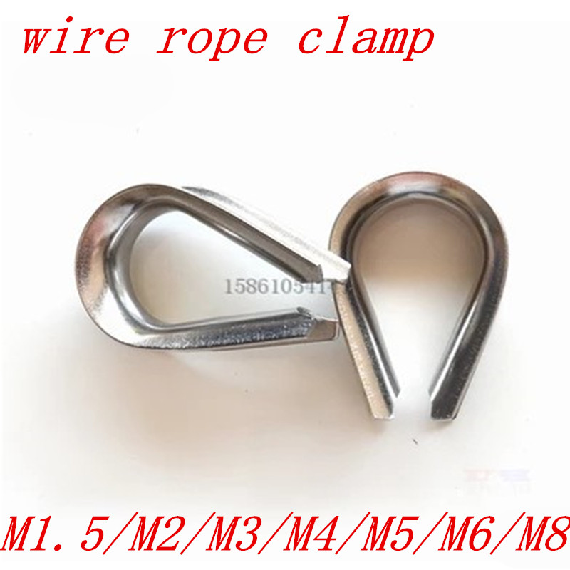 1.5mm 2mm 3mm 4mm 5mm 6mm 8mm 10mm wire rope thimble 304 stainless steel wire rope thimbles stainless steel rope loading weight 40kg 5mm thickness wire xr35 safety cables with looped ends for securing stage lighting