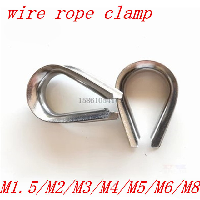 1.5mm 2mm 3mm 4mm 5mm 6mm 8mm 10mm wire rope thimble 304 stainless steel wire rope thimbles
