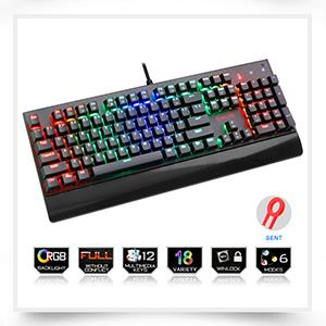 Redragon Gaming mechanical keyboard RGB full color LED backlit keys Full key anti-ghosting 87 keys USB wired PC Computer Game