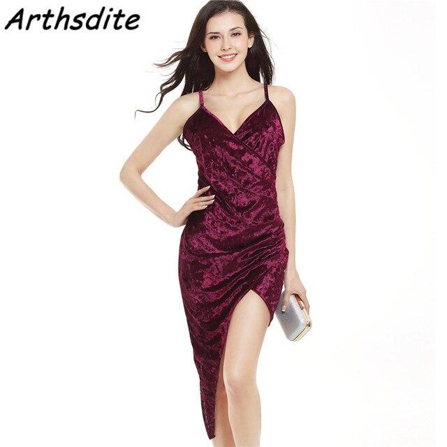 Arthsdite Sexy Women Midi Club Dress Wine Red Bandage Long Dress