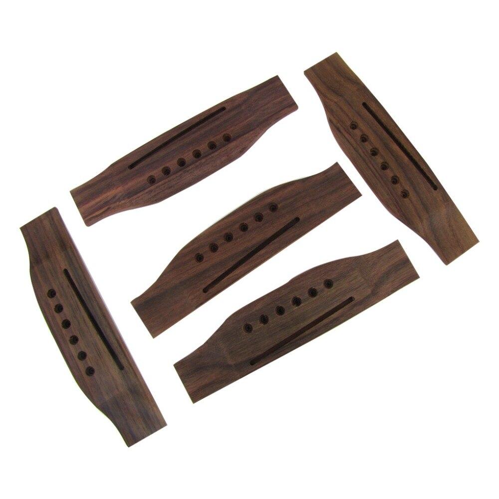 buy musiclily 1pc 5pcs 6 string rosewood saddle thru guitar bridge for martin. Black Bedroom Furniture Sets. Home Design Ideas