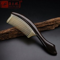 TOP END Authentic Natural high quality Claw inlaid ebony comb Boutique hand made art comb ACH 293