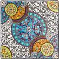 100 см * 100 см Евро Марка Китайские синие и белые шарфы Итальянский дворец ретро большой тяжелый шелковый шарф twill шаль, Платок 3135