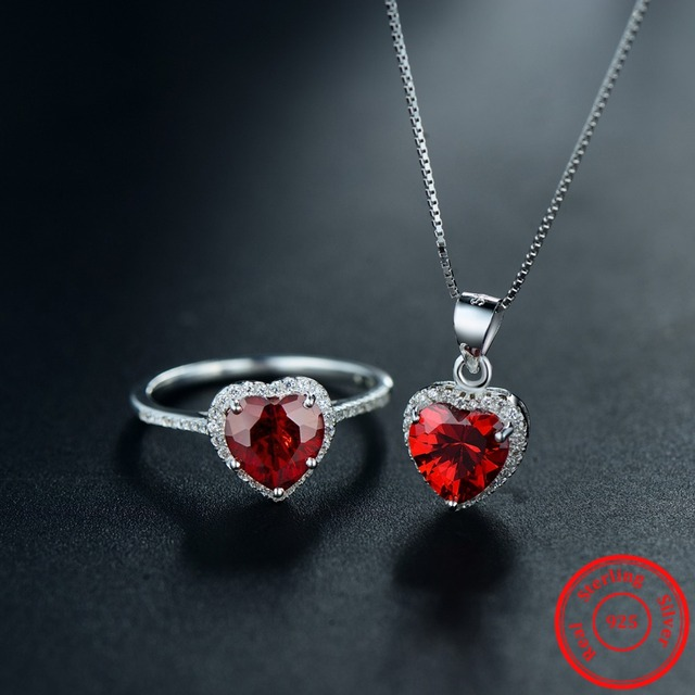 Sterling Silver Hearts Sets Jewelry