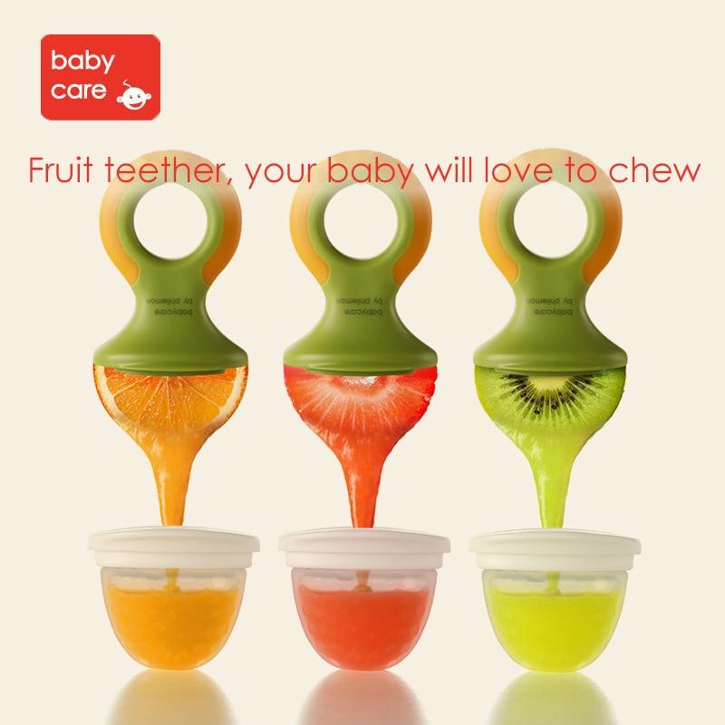 BabyCare Baby Nipple Food Feeder Safe Nipple Bottles Feeding Fresh Fruits Vegetable Infant Food Biting Bag Dental Training tools