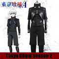 Christmas Hallowmas Movie Anime Design Tokyo ghouls Cosplay Costume Ken Kaneki Wear w Armour black Fashion Uniform Any Size