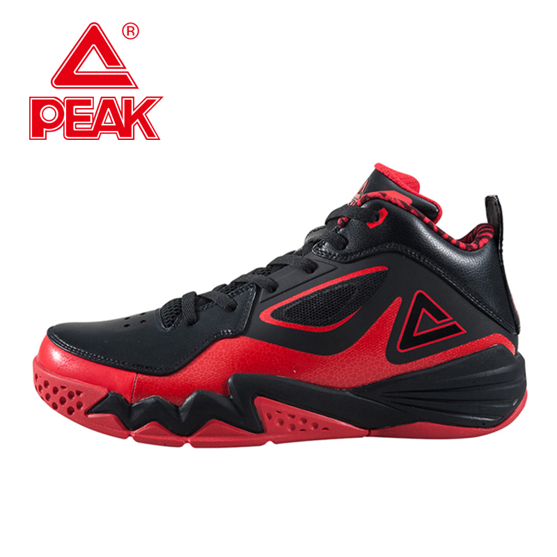 PEAK SPORT Monster II Men Basketball Shoes Medium Cut Breathable Training Athletic Sneakers FOOTHOLD Tech Non-Slip Ankle Boots peak sport hurricane iii men basketball shoes breathable comfortable sneaker foothold cushion 3 tech athletic training boots