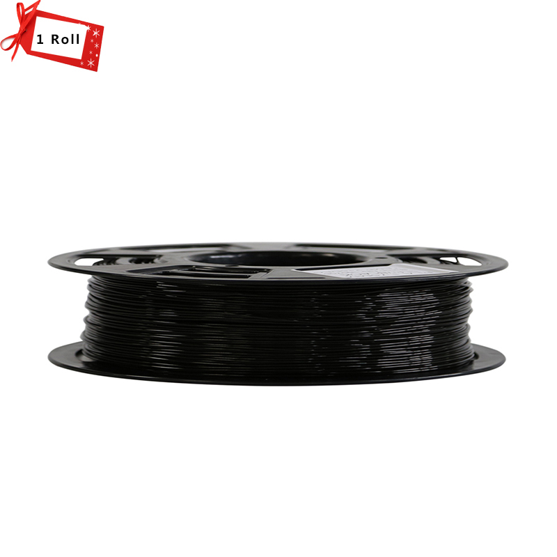 Black Color 3D Printer Filament ABS /PLA 1.75mm 3D Printer Supplies Materials 1KG/Roll for 3D printer and 3D pen new pla 3d printer filament consumables 3d print pen supplies 1 75mm 1kg metal filament upgraded quality for 3d printer