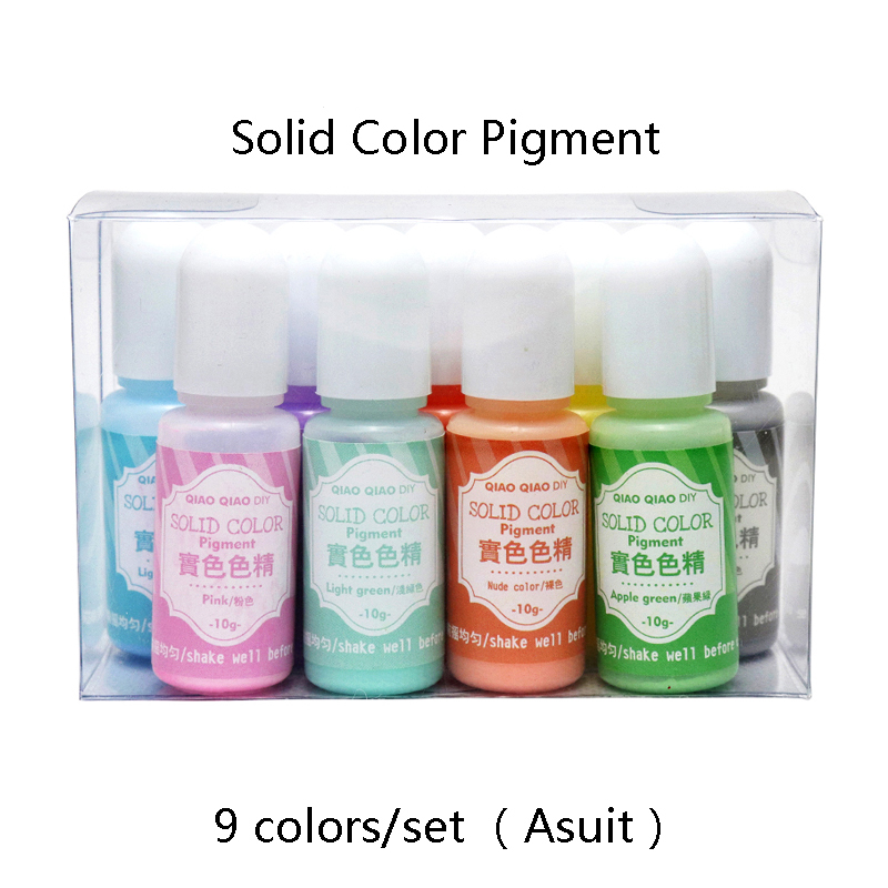 9colors/set  Solid Resin Dye Epoxy Resin Pigment UV Resin Coloring Dye Colorant Resin Pigment DIY Handmade Crafts Art Sets