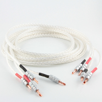 Hi End Kimber 8AG 8N single crystal silver signal line HIFI amplifier speaker cable Y Banana plug audio line