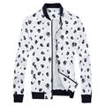 New 2016 autumn punk style fashion skulls print pu leather jacket men jaqueta de couro masculina	men's clothing size m-6xl PY4-1
