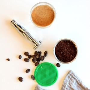 Image 2 - 다시 채울 수있는 커피 필터 스테인레스 스틸 재사용 가능한 커피 캡슐 세트 스쿠프 브러시 스트레이너 맛 달콤한 Nescafe Dolce Gusto