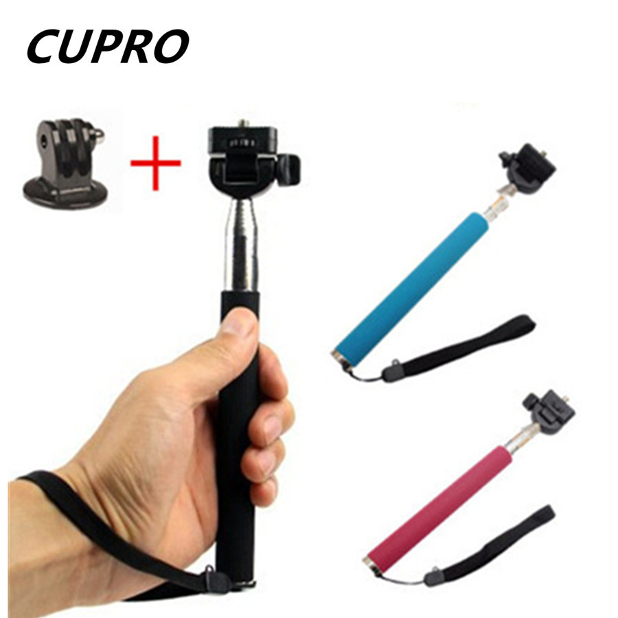 Extendable Selfie Stick Handheld Palo Perche Selfies Monopod Pau De Self Tripod For Gopro Hero 4 3 Xiaomi Yi Camera Accessories