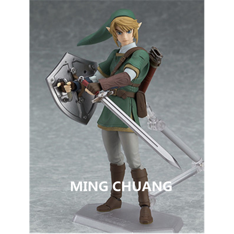 The Legend of Zelda link Figma 320 Decoration PVC 14CM Action Figure Collectible Model Toy Christmas Present BOX Z91