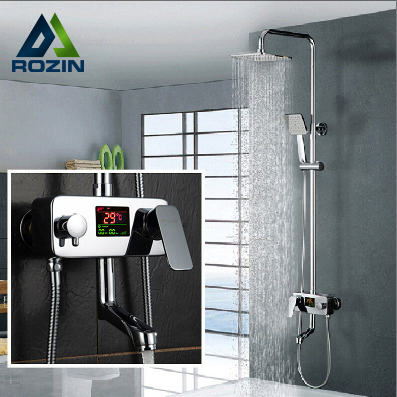 Buy Digital Display Shower Faucet Water Powered Set Wall
