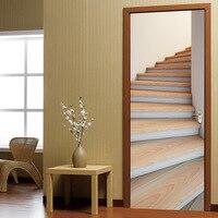 Dekoration aufkleber tür 3d-effekt wohnzimmer boden tür stiker selbstklebende schlafzimmer wandbild