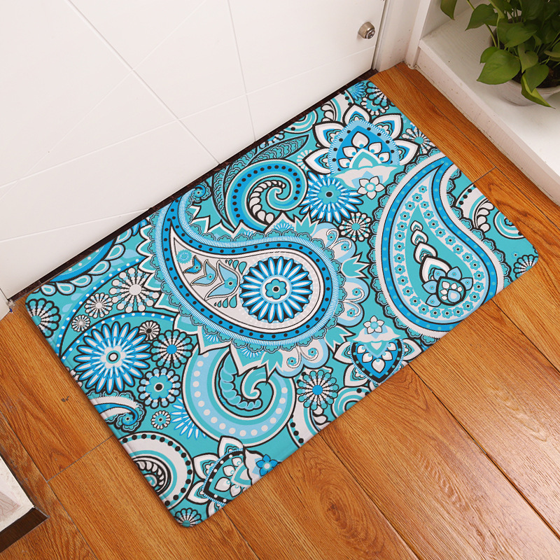 Pleasant Us 6 67 44 Off Bohemia Style Foot Mat For The Hallway Welcome Carpets On The Floor Washable Bedroom Carpets Door Mats Non Slip Bathroom Rugs In Mat Interior Design Ideas Oteneahmetsinanyavuzinfo