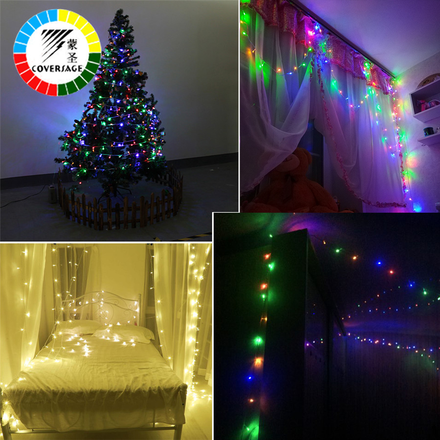 10m String Led Fairy Lights Green Leaf String Lamps Bedroom Home Party Christmas Tree Home Decoration Gardern Night Lighting High Quality Materials Led Lighting Lights & Lighting