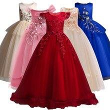 60792f00e1723 Princesse Fleur Fille Robes Pour Le Mariage Communion Robe robe de fête d anniversaire  Fille Dentelle pétale Partie Longue Maxi .