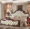 Marco de la cama cama de estilo europeo de doble fila 1800*2000mm clásico americano cama dormitorio mueble
