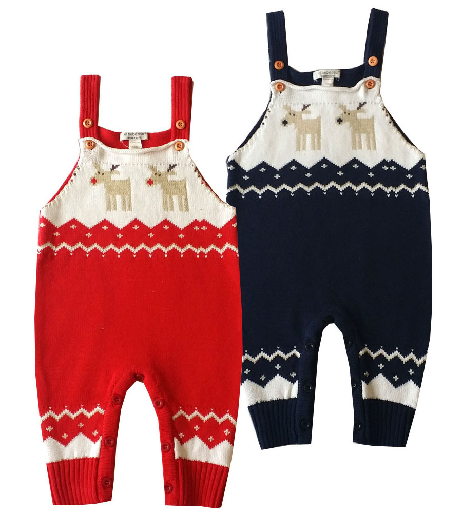 baby kids clothes sleeveless toddler rompers roupas de bebe pants children Christmas clothes knitted suspenders overalls romper 2017 baby knitted rompers girls jumpsuit roupas de bebe wool baby romper overalls infant toddler clothes girl clothing 12m 5y