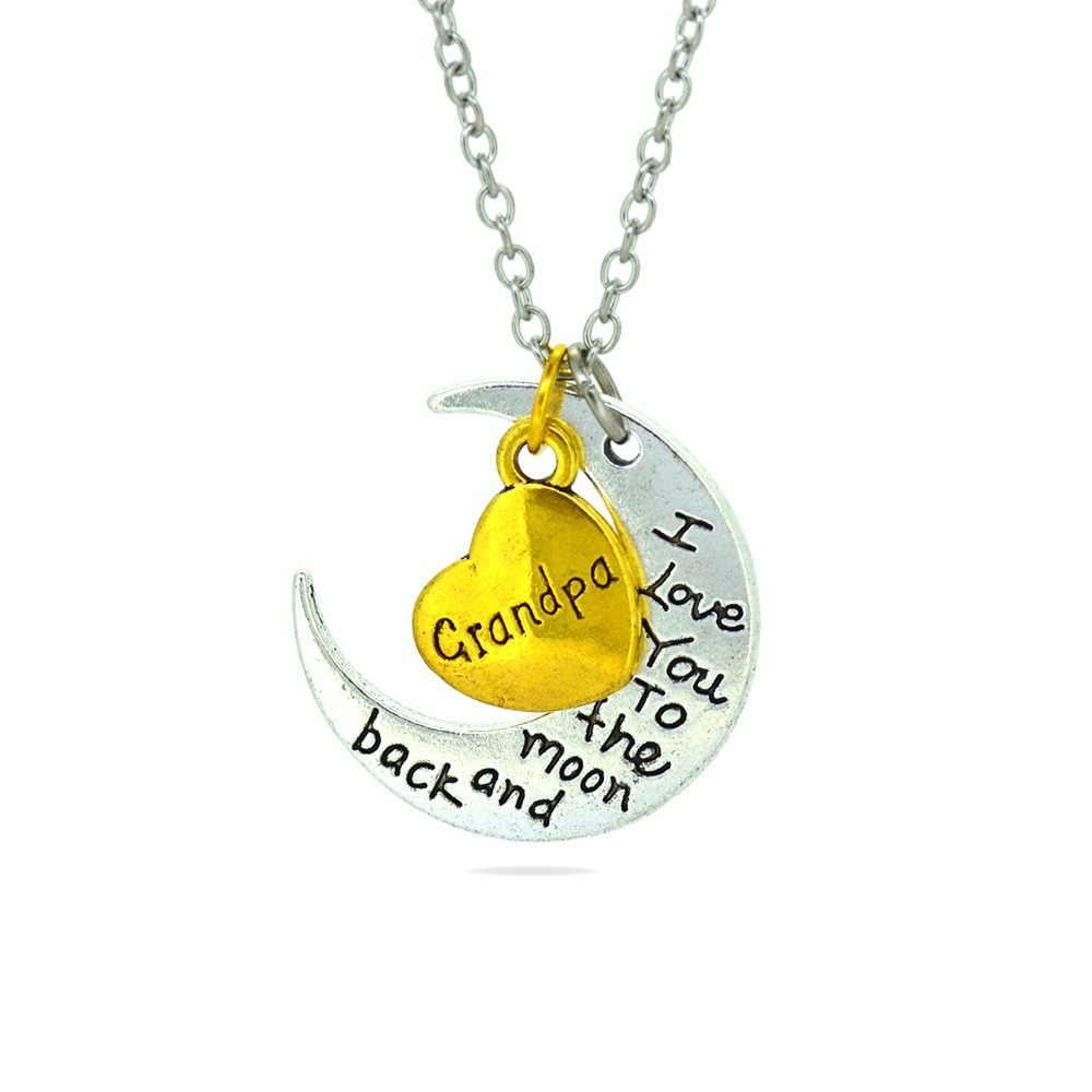 Fashion Letters Necklace <font><b>I</b></font> <font><b>Love</b></font> <font><b>You</b></font> Mother Mom Dad Sister Gift Silver Gold <font><b>Engraved</b></font> Letter Pendants Statement Choker Necklace