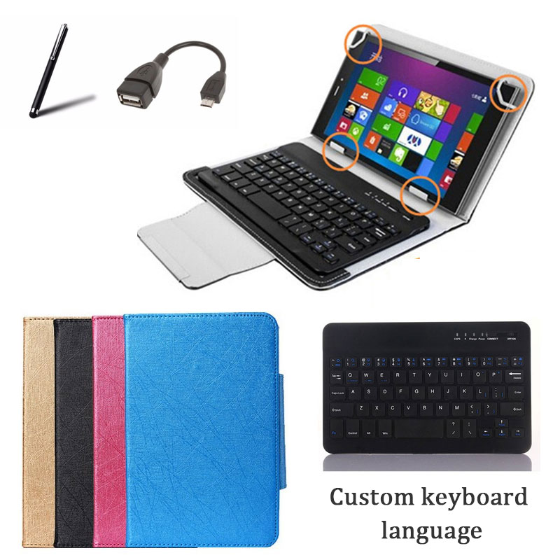 7 -8inch Tablet Universal Wireless Bluetooth Keyboard Case Stand Cover for ASUS Lenovo Digma 4Good Prestigio Dexp Irbis Oysters