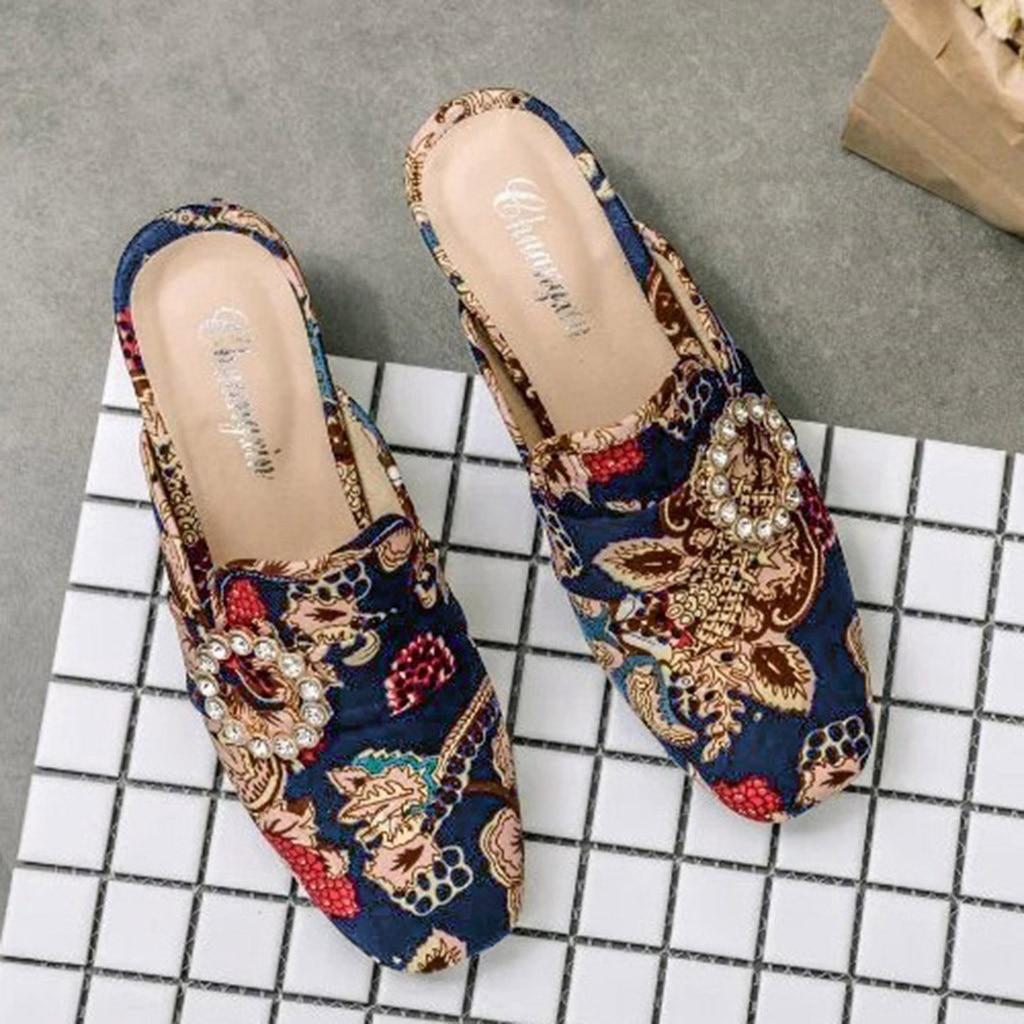 Chamsgend Sommer Neue Mode Frauen Keil Ferse Mit High Heel Sandalen Hausschuhe Stickerei Casual Komfortable Outdoor Sandalen