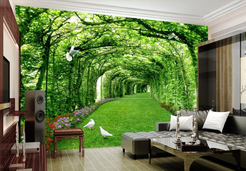 3D Embossed Non-woven Background Wallpaper Desktop Home Decor Wall Paper Living Room Wallpaper Nture Bedroom Walls Decoration