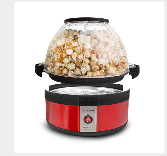 Electric popcorn popper machine DIY Food processor Childrens snack set Graeme Black Kitchen equipment A key switchElectric popcorn popper machine DIY Food processor Childrens snack set Graeme Black Kitchen equipment A key switch